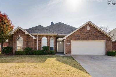 Wichita Falls TX Single Family Home Active W/Option Contract: $179,900