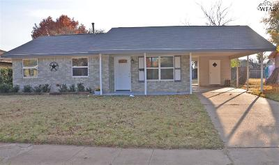 Wichita Falls TX Single Family Home For Sale: $82,000