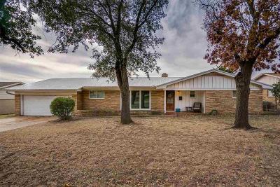 Wichita Falls TX Single Family Home Active W/Option Contract: $114,900