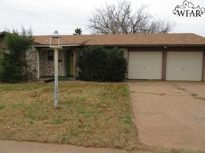 Wichita Falls Single Family Home For Sale: 3902 Hooper Drive