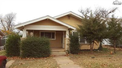 Wichita Falls TX Single Family Home For Sale: $49,000