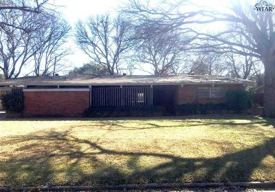 Wichita Falls Single Family Home For Sale: 2625 Chase Drive