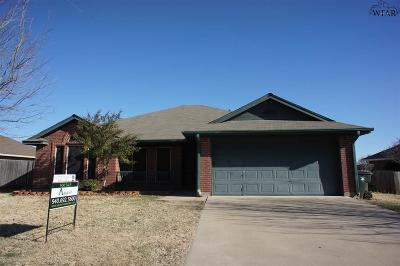 Wichita Falls Single Family Home For Sale: 5019 Bayberry Drive