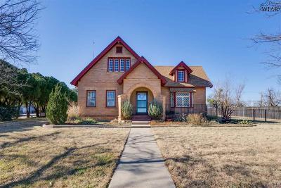Wichita Falls Single Family Home Active W/Option Contract: 910 Cedar Avenue