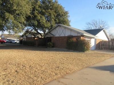 Burkburnett Single Family Home Active W/Option Contract: 1415 Cardinal Lane