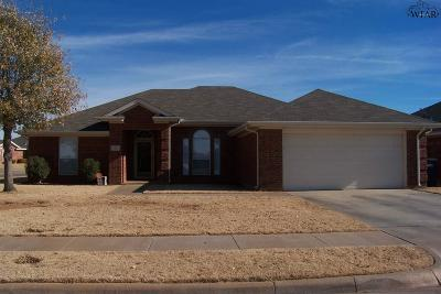 Wichita Falls Single Family Home Active W/Option Contract: 12 Libby Court