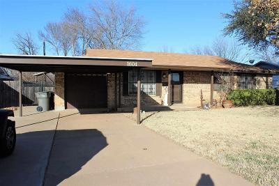 Wichita Falls Single Family Home For Sale: 1604 Southwest Parkway