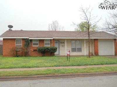 Wichita Falls Single Family Home For Sale: 5135 Kingston Drive