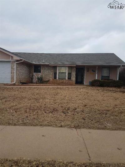 Wichita Falls Single Family Home For Sale: 5512 Lucky Lane