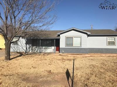 Wichita Falls Single Family Home For Sale: 4019 Gossett Drive