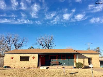 Iowa Park Single Family Home Active W/Option Contract: 100 E Aldine Street