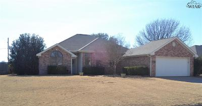 Burkburnett Single Family Home Active W/Option Contract: 1210 Parliament Street