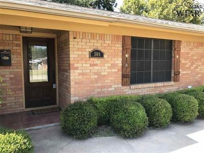 Burkburnett Single Family Home Active W/Option Contract: 306 Mimosa Drive