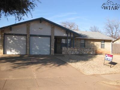 Wichita Falls Single Family Home For Sale: 1902 Eden Lane