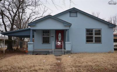 Wichita Falls Single Family Home For Sale: 1415 N 8th Street