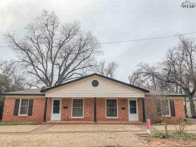 Wichita Falls Multi Family Home Active W/Option Contract: 2606,2606 1/2 Cherokee Street