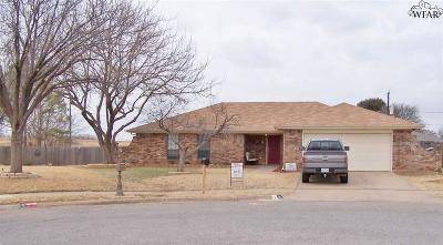 Wichita Falls Single Family Home Active W/Option Contract: 8 Flat Top Circle