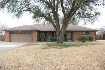 Burkburnett Single Family Home Active W/Option Contract: 1025 Pawhuska Lane