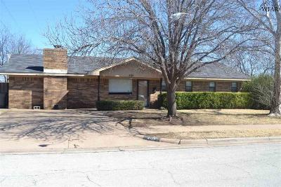 Wichita Falls Single Family Home For Sale: 4113 Alpine Drive