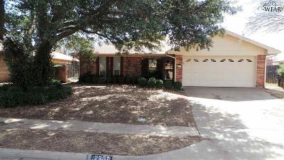 Wichita Falls Single Family Home For Sale: 2807 Concho Lane
