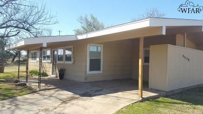 Wichita Falls TX Single Family Home For Sale: $82,500