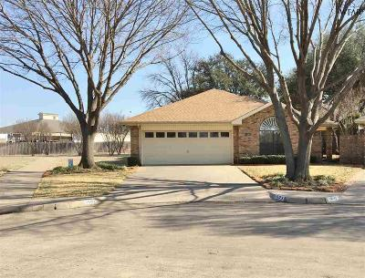 Wichita Falls TX Single Family Home Active W/Option Contract: $159,900