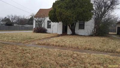 Wichita Falls TX Single Family Home For Sale: $38,000