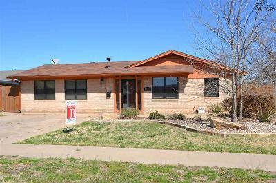 Wichita Falls TX Single Family Home For Sale: $143,900