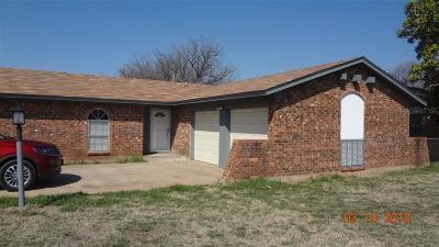 Wichita Falls Single Family Home Active W/Option Contract: 900 Sally Circle