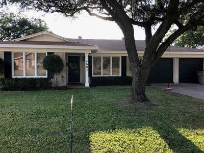 Wichita Falls Single Family Home Active W/Option Contract: 4602 Melody Lane