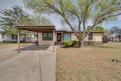 Wichita Falls TX Single Family Home For Sale: $105,000
