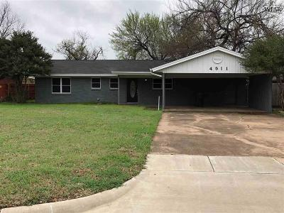 Wichita Falls Single Family Home For Sale: 4511 Westward Drive