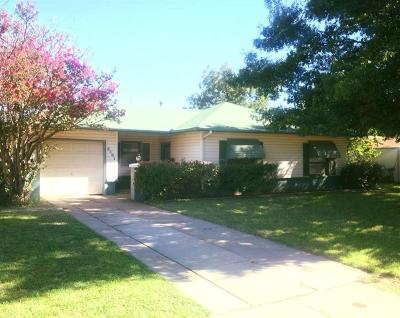 Wichita Falls TX Single Family Home For Sale: $89,900