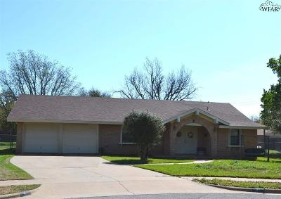 Wichita Falls Single Family Home Active W/Option Contract: 4 Summit Circle