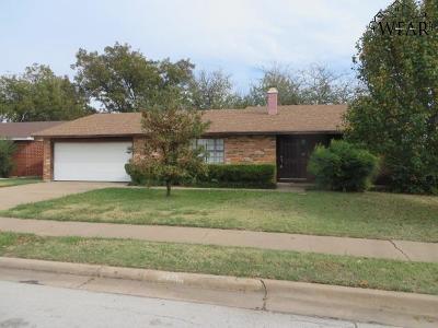 Wichita Falls Single Family Home For Sale: 4673 Balboa Drive