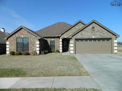 Wichita County Single Family Home Active W/Option Contract: 4822 Olivia Lane