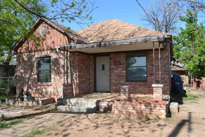 Wichita Falls TX Single Family Home For Sale: $12,000