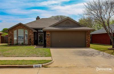 Wichita Falls Single Family Home For Sale: 5413 Long Leaf Drive
