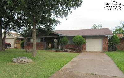 Wichita Falls Single Family Home For Sale: 1603 Bert Drive