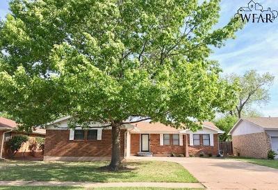 Wichita Falls Single Family Home Active W/Option Contract: 1614 Bert Drive