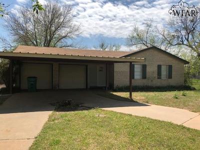 Wichita Falls TX Single Family Home For Sale: $65,000