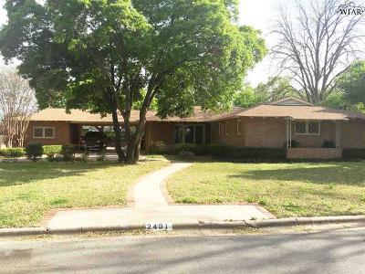 Wichita Falls Single Family Home For Sale: 2401 Lou Lane