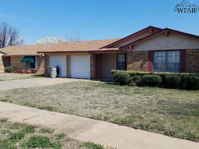 Wichita Falls Single Family Home For Sale: 4835 Colleen Drive