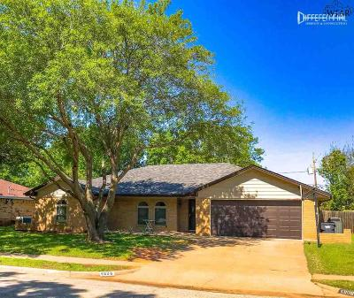 Wichita Falls Single Family Home Active W/Option Contract: 4808 Reginald Drive