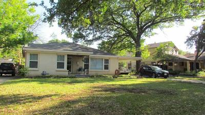 Wichita Falls Single Family Home For Sale: 2411 Dartmouth Street