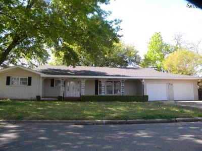 Burkburnett Single Family Home Active W/Option Contract: 710 Sunset Street