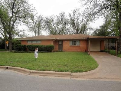 Wichita Falls TX Single Family Home Active W/Option Contract: $92,500