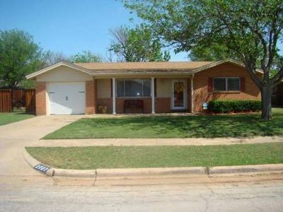 Wichita Falls Single Family Home For Sale: 2007 Gloria Lane