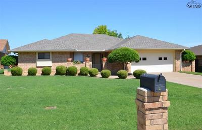 Wichita Falls TX Single Family Home Active W/Option Contract: $160,000