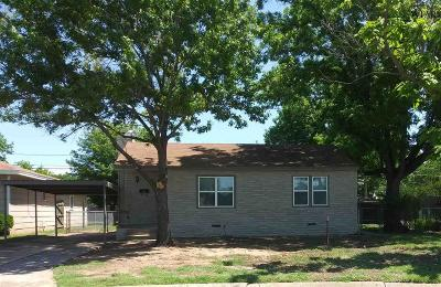 Wichita Falls TX Single Family Home For Sale: $96,500
